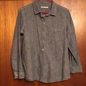Button up chambray shirt